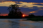 Sunset over River Paraguay
