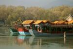 Pleasure boats moored on Lake Kunming