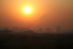 Sunset and Smog over Beijing