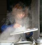 Street cooking - Tibet