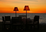 Sunset and table for dinner - Anjajavy